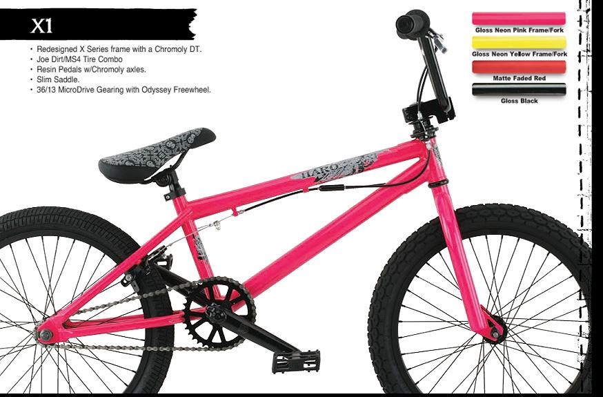 Pink Haro Bmx