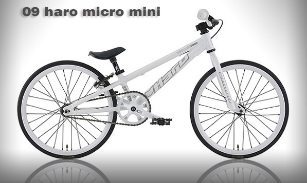 2009 HARO RACE MICRO MINI - Gloss White