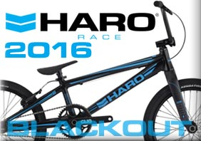 "--> 2016 HARO ""BLACKOUT"" RACE BMX"