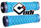 "NEW ODI ""VANS"" CYAN BLUE LOCK-ON GRIPS"